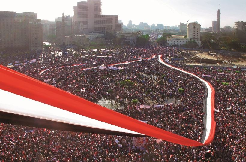 Friday of Victory, Tahrir Square, Cairo. Photo by Lara Baladi, 2011.